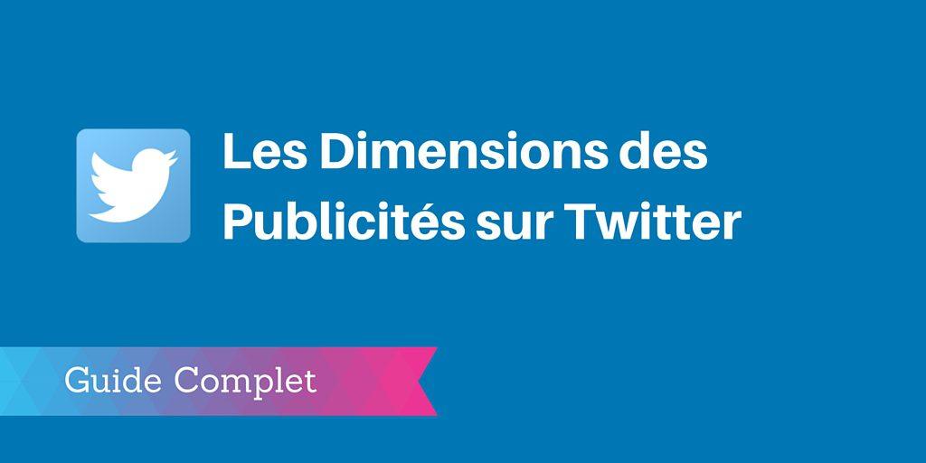taille publicités twitter