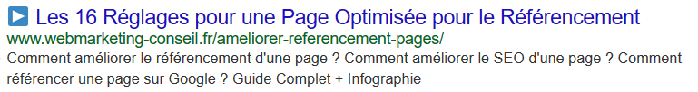 optimisation google