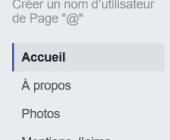 colonne droite page facebook