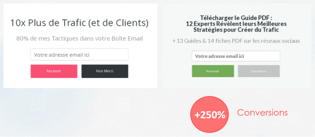 taux conversion email