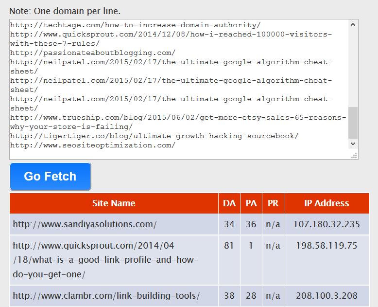 bulk metrics checker