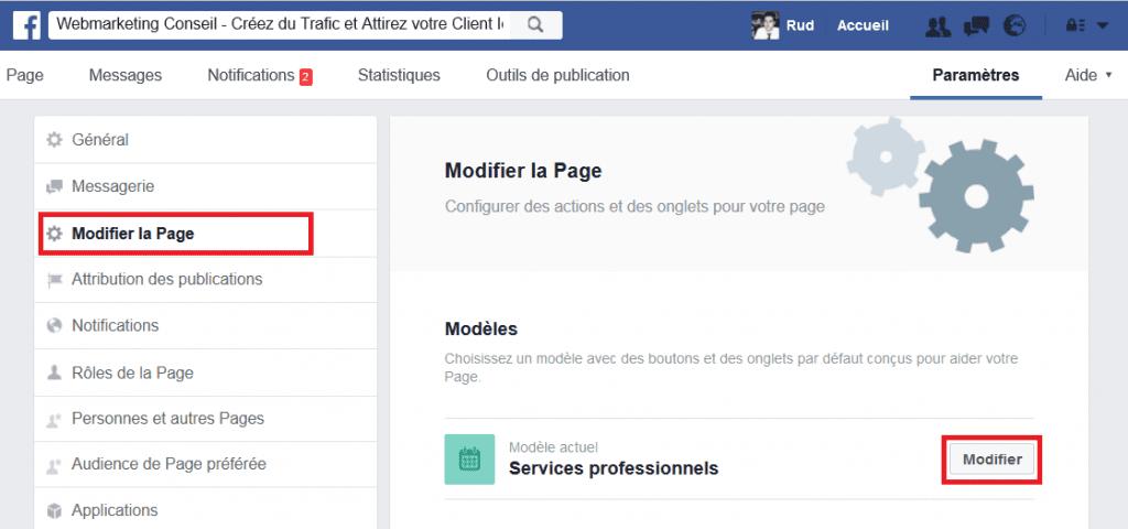 changer thème facebook