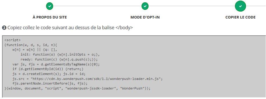 code notification push