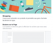 modèles pages facebook