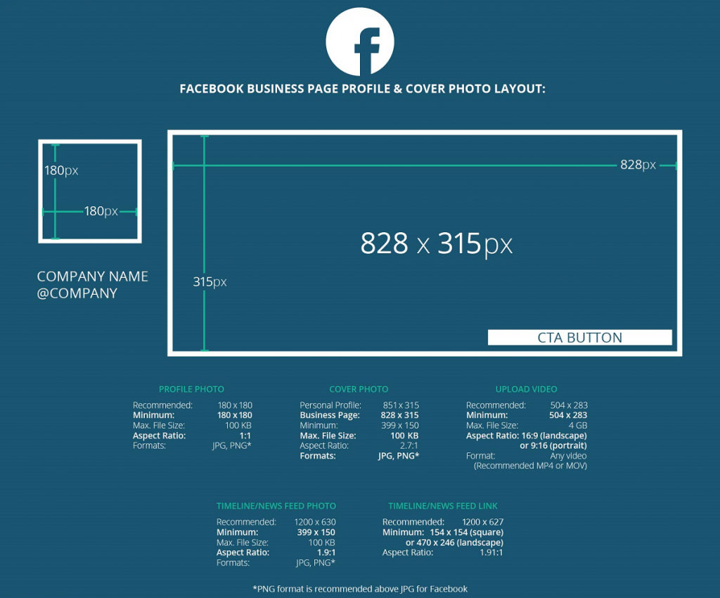 taille facebook