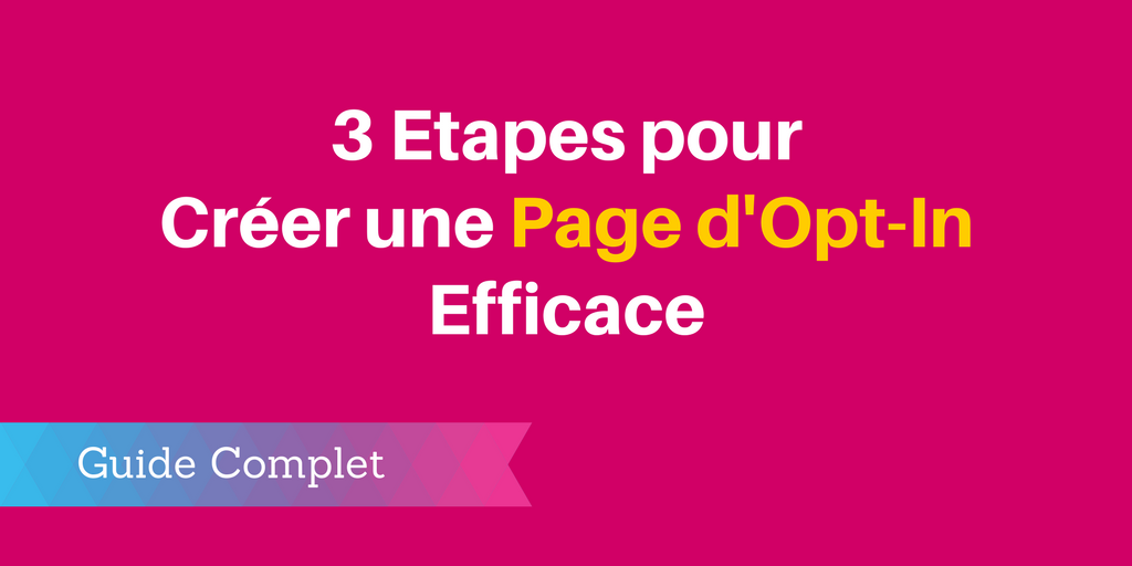 créer page opt-in