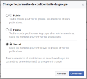 groupe facebook secret