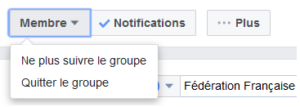 quitter groupe facebook