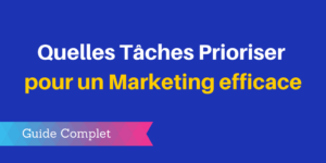 tâches marketing