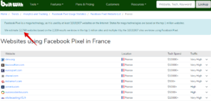 récupérer facebook pixel