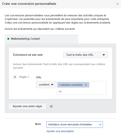 objectif facebook prospects