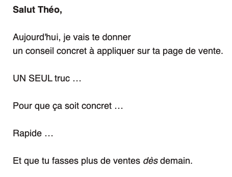 séquence mail