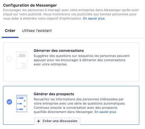créer facebook ads