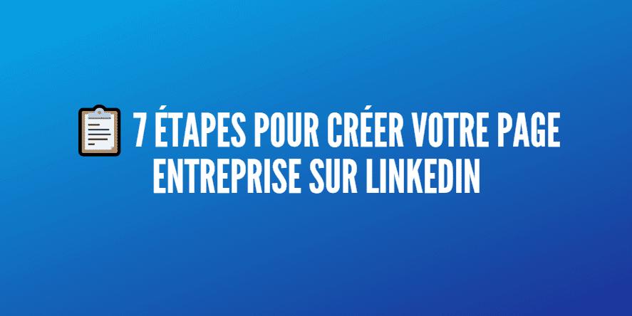 page linkedin entreprises