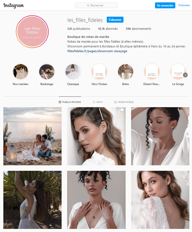 entreprise instagram