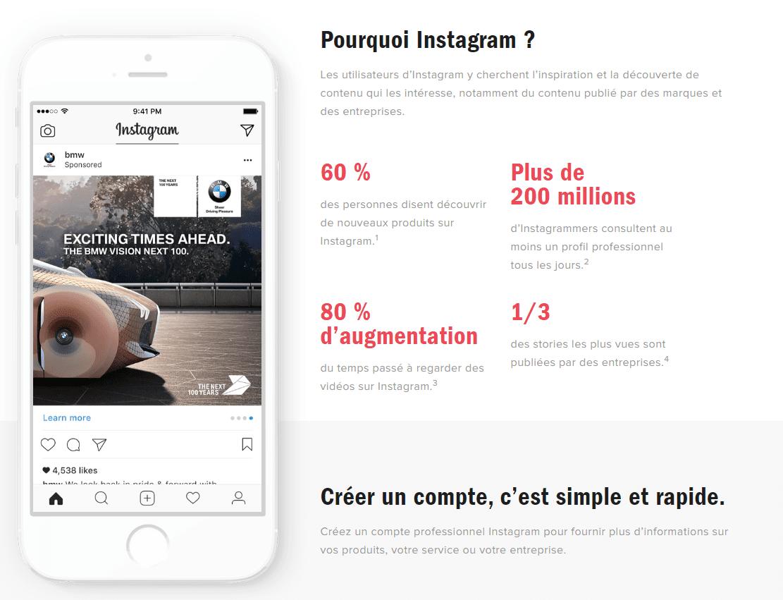 instagram entreprise