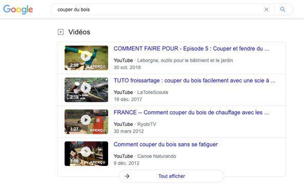 resultats recherche google