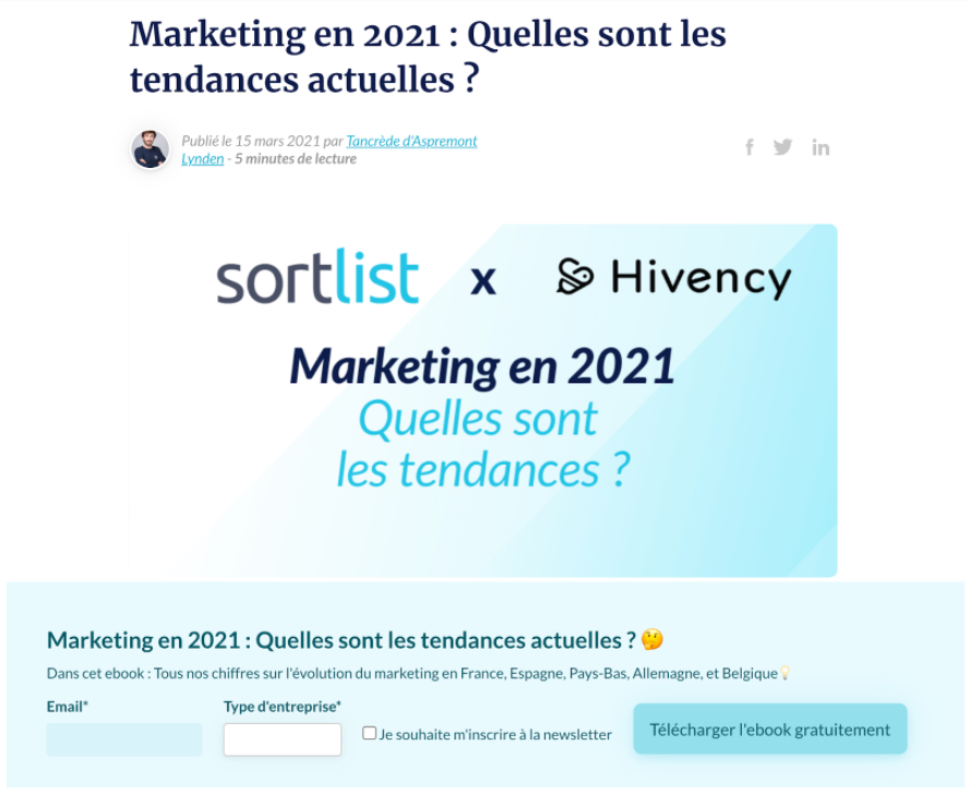marketing contenus blog