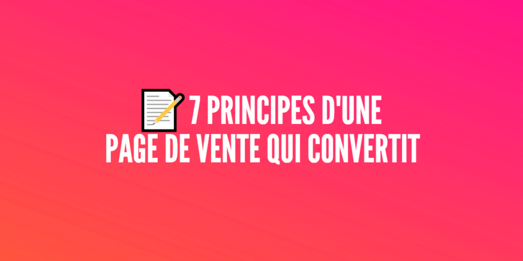 page vente convertit